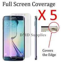 5 x S7 Edge FULL SCREEN COVER TPU Screen Protector Film for Samsung Galaxy