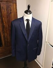 "$2,195 ARMANI COLLEZIONI ""G"" Line Suit 44R Navy/Blue On Blue Striped **2017!!**"