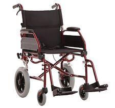 MLE Transit Aluminium Wheelchair, Easy Fold, Folding Backrest.