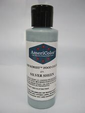 Americolor Amerimist Airbrush Color 4.5oz Silver Sheen cake decorating supplies