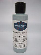 Americolor Amerimist Airbrush Color 4.5oz Silver Sheen cake decorating supplies