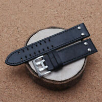 Double Prong Genuine Leather Watch Band Strap For Hamilton Samsung Gear S3 22mm