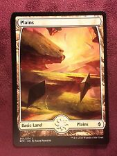 Battle for Zendikar Full Art Land  Plains #252  VO  -  MTG Magic (Mint/NM)