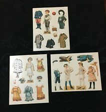 "Edwardian Era Paper Doll Postcards Large 8x6"" (Smithsonian Institution 1989)"