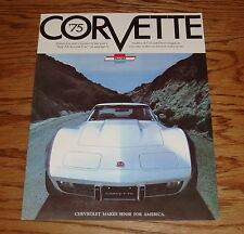 1975 Chevrolet Corvette Sales Brochure 75 Chevy