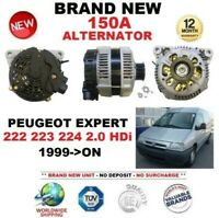 FOR PEUGEOT EXPERT 222 223 224 2.0 HDi 1999-ON 150A ALTERNATOR EO QUALITY
