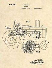 Official John Deere Tractor US Patent Art Print- Vintage Antique Farm -406