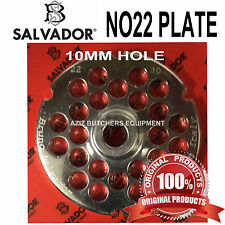 Salvador No22, 10mm Mincer Grinding Plate. Stainless Steel. 100% Genuine.