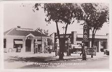 RPPC,Fremont,Wisconsin,Carl Abraham Super Serive Station,Wolf River Gas,c.1945>