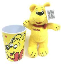 "Haribo Gummy Plush Stuffed 7"" Bear & 4"" Melamine Cup New"