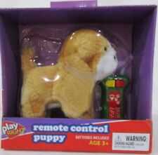 Remote Control Puppy by Play Right Ages 3+ Barks Walks Wags Tail w/Batteries