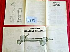N°4513  / DELAUNAY BELLEVILLE : dépliant camion de 3 tonnes type CR3  1925 ?