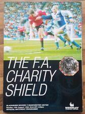 1994 charity shield Blackburn rovers v Manchester United football programme