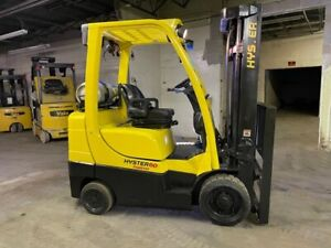 2015 Hyster S60FT 6000lbs Used Forklift w/ Triple Mast LP Gas & Sideshift