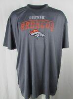 Denver Broncos Reflective Men's Gray Majestic Short Sleeve Tee NFL 4XL 5
