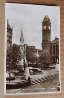 Postcard Chamberlain statue Birmingham Real Photo Posted posted 1937