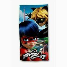 Drap de Plage Miraculous Ladybug et Chat Noir Serviette Drap de Bain Miraculous