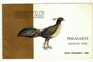 BHUTAN 1968 COLLECTION of x  2 Different FOLDERS of Birds W/o Stamp RARE Folder