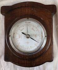 ANTIQUE BAROMETER,EARLY 20TH CENTURY ANEROID BAROMETER IN ART DECO OAK CASE,G/C