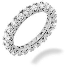 "White Gold Band 20 x 0.15 ""U""shape 3.02 carat Round Diamond Eternity Ring 14K"
