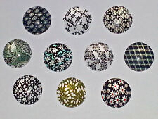 10PC. Mixed Floral 12MM Glass Cabochons Dome Flatback Half Round For DIY NEW