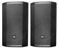 "(2) JBL PRX815W 15"" 3000w Powered Speakers Active Monitors Wood Cabinets w/Wi-Fi"