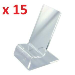 15 X Clear Acrylic Phone Stands for Smartphone iPhone Galaxy Note Display Video