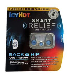 Icy Hot Smart Relief Back and Hip Pain Tens Therapy Kit Exp 4/30/2021