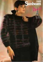 1105 Sunbeam Lady's Tartan Sweater, Mohair, to fit Bust 30 to 40 inches
