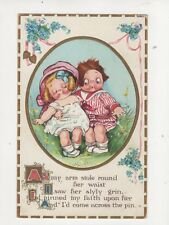 As My Arm Stole Round Her Waist [E57] 1913 Embossed Comic Children Postcard 262b