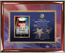 Army Photo Frame Personalized US Army Picture Plaque Poem Promotion Retirement