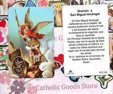 Oracion a San Miguel Arcangel - Spanish - Plastic Holy Card