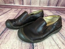 KEEN Womens Size 6 / 36 Brown Leather Slip-on Loafer Shoes 5499-POSL e9