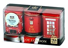 "English Tea Gift Set ""City of London"", 3 x 25g Tea Caddies London Souvenir Gift"