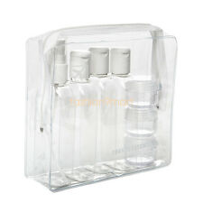 7PCS Holiday Travel Clear Plastic Bottles Packs 100ml Bottle - Jars & Clear Bag