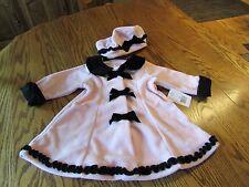 Sophie Rose Toddler Girl  Fleece Coat & Hat Set Size 18M, NWT $55