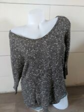 Maurices Gray V Neck Sweater To Knit SIze M