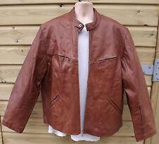 Ciro Citterio Brown Leather Retro Cafe Racer Bomber Jacket - XXL