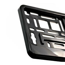 Glossy Black Number Plate Holder Licence Plate Surround Frame ABS PC O2