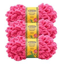 Lion Brand Yarn 3004-195 Crayola Off the Hook Yarn, Magenta (Pack of 3)