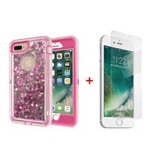 For iPhone 6S Plus Transparent Quicksand Glitter Liquid Defender Case w/ Screen