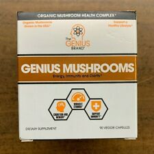Genius Mushrooms Lions Mane Cordyceps and Reishi  Immune System Booster (NEW)