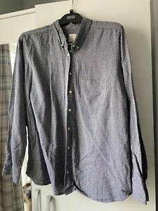 Women's Grey & White Polkadot Shirt From Gap - Size XL Extra Large - Ladies Top