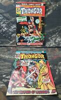 Creatures On The Loose #22 & #25 First Thongor Marvel Comic Lot Clean Copies