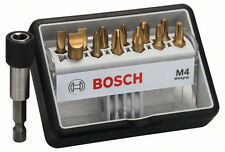 Bosch M4 MaxGrip PH PZ TORX SLOTTED Robust Line 25mm Screw Bit Set + Bit Holder