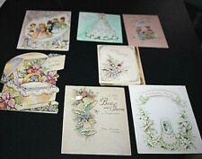 Vtg Greeting Card Lot 3D Wedding 7 Cards 50s Bride Groom Vintage Shaped BBBB