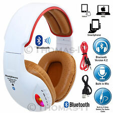 Wireless Bluetooth 4.2 HIFI Super STEREO Headphone Headset Built In MIC FM MP3