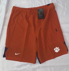 Mens Nike Flex Clemson Tigers Orange Performance Shorts CI2312-888 NWT Large L