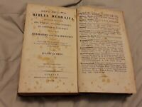 BIBLIA HEBRAICA 1839 antique BIBLE Hebrew Judaica Jewish