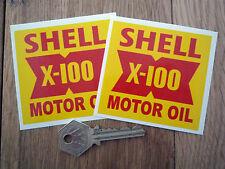 Shell x100 huile style voiture autocollants Jensen ELVA gilbern